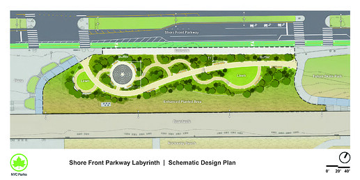 Shore Front Parkway Labyrinth and Seating Area Construction Schematic_20190207_Q